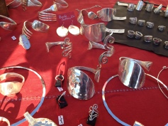 Jewellery from upcycled old silver cutlery