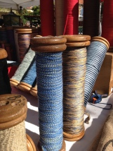 Old silk thread bobbins in the Brocante