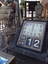 Items for sale outside Cote Parc - I found this clock hard to resist