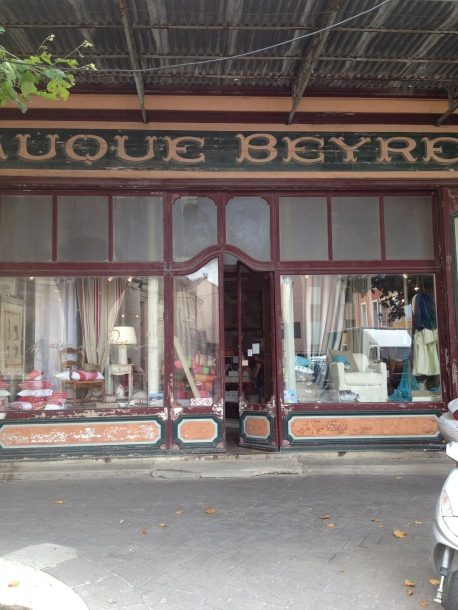 The wonderful 'belle-epoque' frontage of Fauque Beyret