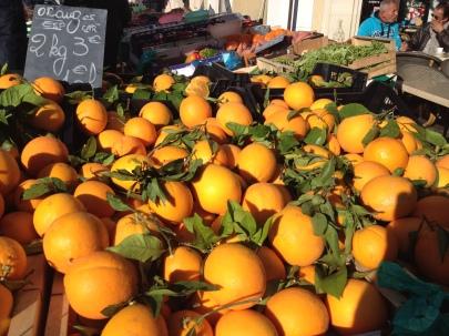 December oranges at L'Isle Sur La Sorgue