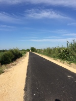 New stretch of the Veloroute du Calavon towards Cavaillon looking almost ready to open