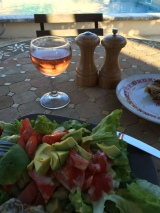 Supper and a much enjoyed glass of rose