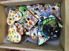 Lovely, bright different ceramic buttons