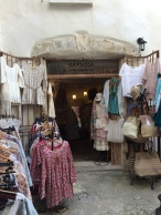 One of the attractive displays outside one of the clothing shops in the old town