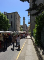 One of the market streets in Forcalquier, leading down towards the 'Cour des Artisans'
