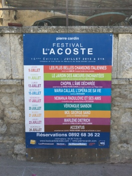 This year's Lacoste Festival programme