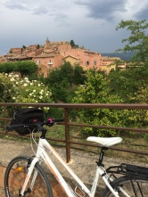 The arrival into Roussillon - even when overcast the buildings still glow