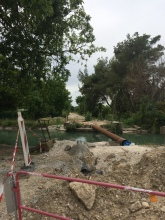 The 'Veloroute' comes to an abrupt halt at Robion, but work is underway to open it to Cavaillon