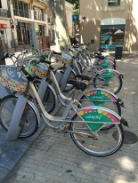 Avignon's colourful 'Boris-Bikes'
