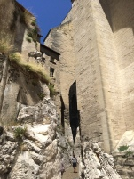 The Pope's Palace rising from the bedrock of the city