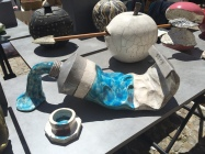 Great raku pottery of a tube of paint