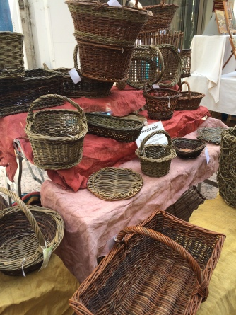 Lovely handmade basketware at Apt market