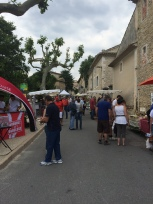 Lagnes closed off for the Fete De L'Olivier