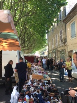 A view back towards the main square - Forcalquier market