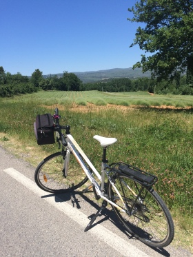 On route via the lanes between Roussillon & Gordes