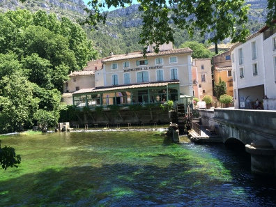 Overlooking the River Sorgue in the ventre of Fontaine De Vaucluse