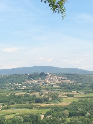 View across to Bonnieux from Lacoste
