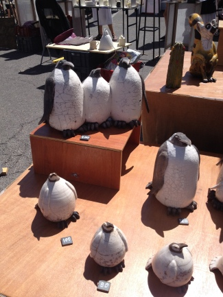 Fantastic Penguins at Gordes Pottery Market