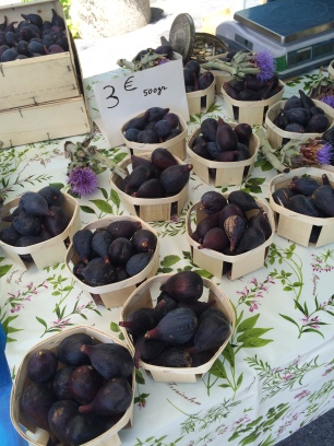 The 'feted' local 'Noire de Caromb' Figs