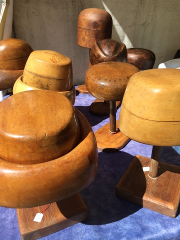 Exquisitely carved wooden hat stands - simply beautiful even without the hats!!