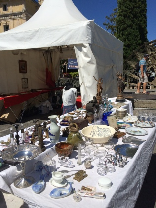 Some of the many brocante stalls filling the streets