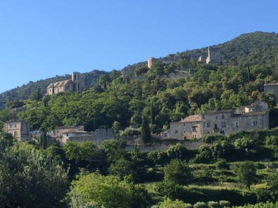 Oppede Le Vieux nestled on the front edge of the Petit Luberon