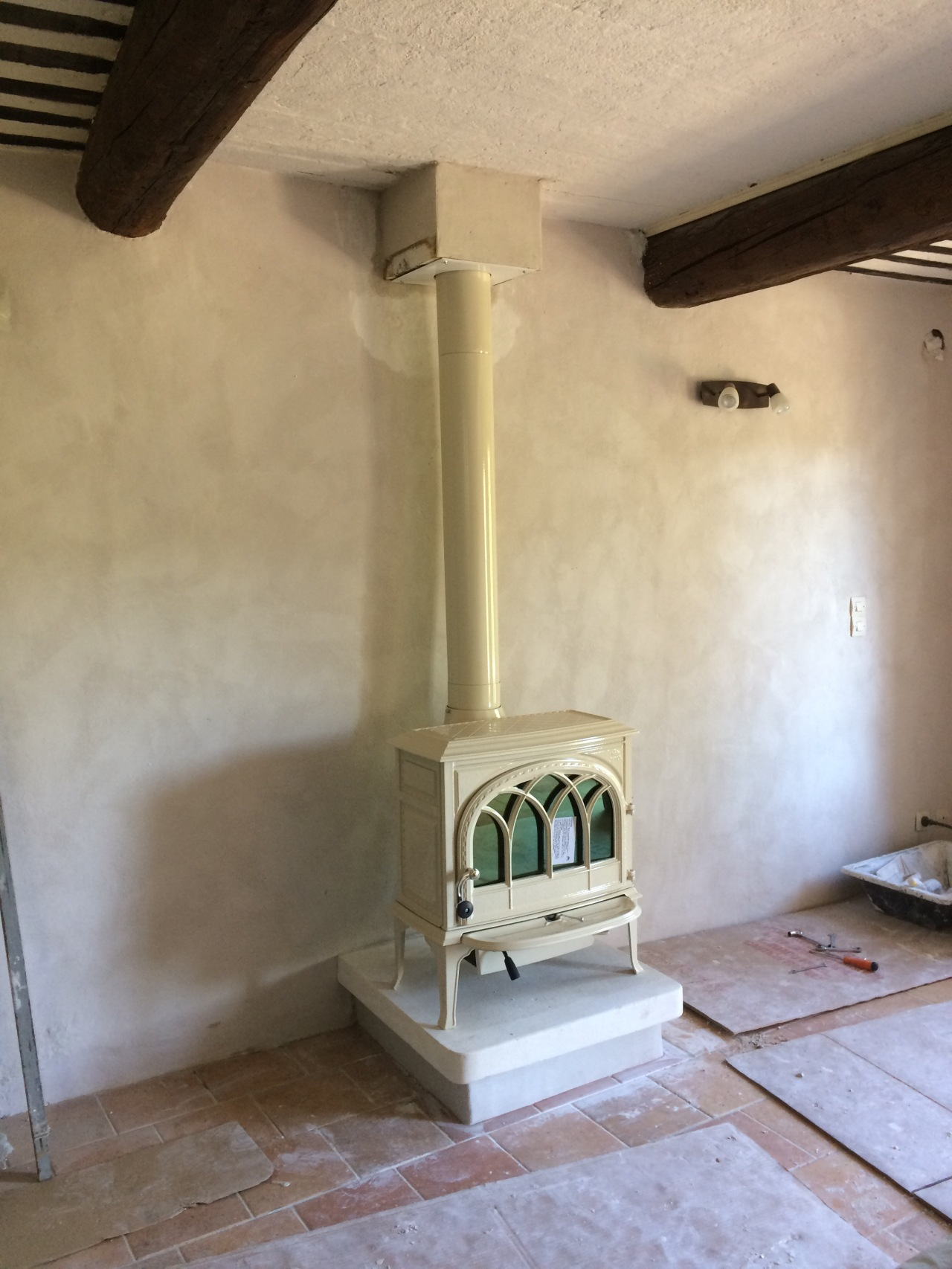 Bring on Winter – the woodburner has been fitted!