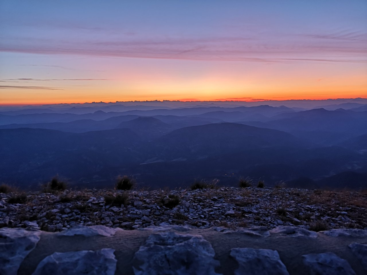 Chasing the dawn on Mont Ventoux