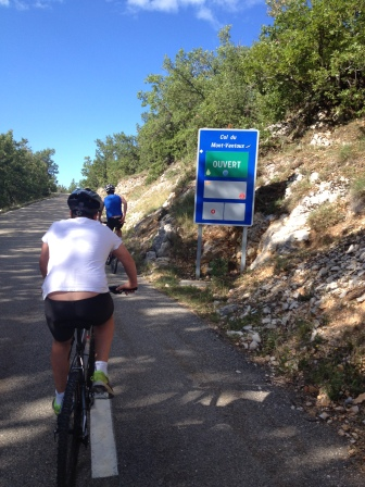 Starting to head up Ventoux - Summer 2014