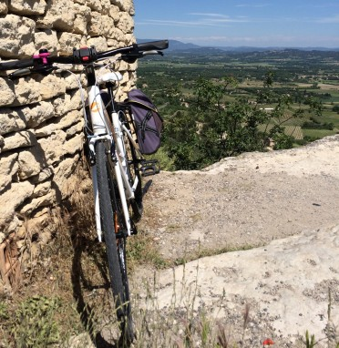 Overlooking the view from Gordes, Vaucluse - certainly worth the cycle uphill