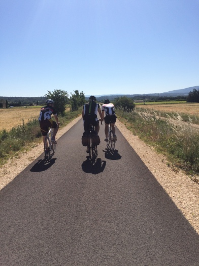 The perfect end to our proposed cycle - the Veloroute du Calavon, Vaucluse, Provence